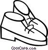 Vector Clipart illustration  of a Dress shoes