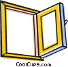 Vector Clipart graphic  of a Open window