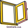 Open window Vector Clipart illustration