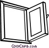 Vector Clip Art image  of a Open window