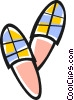Vector Clipart image  of a slippers