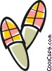 slippers Vector Clip Art picture