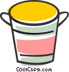 Vector Clip Art graphic  of a Bucket