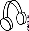 Vector Clip Art picture  of a Headphones