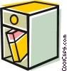 Vector Clip Art graphic  of a End table with book