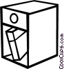 Vector Clipart picture  of a End table with book