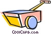 Vector Clipart graphic  of a Wheelbarrow