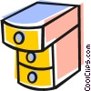 Vector Clipart picture  of a Drawers