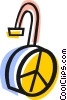 Vector Clip Art graphic  of a Pad lock