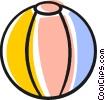 Vector Clipart image  of a Beach ball