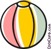 Beach ball Vector Clipart picture