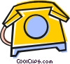 Vector Clip Art graphic  of a Home phone
