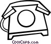 Vector Clipart image  of a Home phone