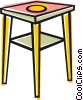 End table Vector Clip Art graphic