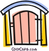 Back yard gate Vector Clip Art picture