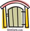 Vector Clip Art graphic  of a Back yard gate