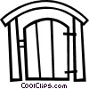 Vector Clipart graphic  of a Back yard gate