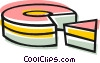 Vector Clip Art image  of a Piece of cake