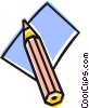 Vector Clip Art picture  of a Pencil and paper