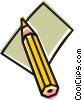 Vector Clipart illustration  of a Pencil and paper