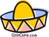 Vector Clip Art graphic  of a Mexican hat