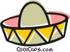 Mexican hat Vector Clipart graphic