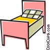 Single bed Vector Clip Art image
