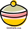 Vector Clipart image  of a Cooking pot