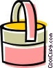 Cleaning pail Vector Clipart illustration