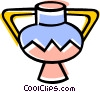 Vector Clip Art image  of a Flower vase