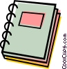 Vector Clipart graphic  of a School book