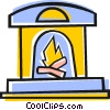 Fireplace Vector Clipart illustration