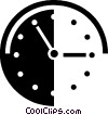 Vector Clipart illustration  of a wall clock