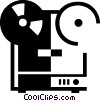 Vector Clip Art image  of a reel to reel tape recorder