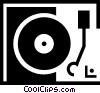 Vector Clip Art graphic  of a record player