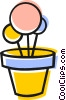 Vector Clip Art image  of a Potted flowers