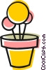 Vector Clipart picture  of a Potted flowers