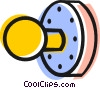 Vector Clip Art graphic  of a Door knob