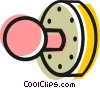 Vector Clip Art image  of a Door knob