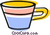Vector Clipart graphic  of a Tea cup