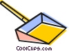 Dustpan Vector Clipart graphic