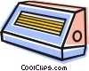Vector Clip Art image  of a electric heaters