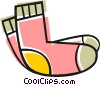 Vector Clipart graphic  of a Wool socks