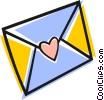 Love letter Vector Clipart illustration
