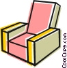 Living room chair Vector Clipart image