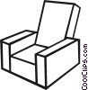 Living room chair Vector Clipart graphic