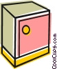 Vector Clipart picture  of a Cabinet