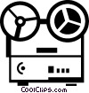 reel to reel tape recorder Vector Clipart picture
