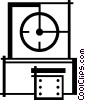 Vector Clip Art graphic  of a punch clock