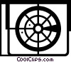Vector Clip Art image  of an air traffic control